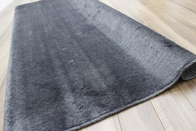 激安 スミノエ ブランド 日本製 カーペット 黒 絨毯  ミンクタッチ 江戸間 6畳 261×352cm 【フラムガード6畳ブラック】