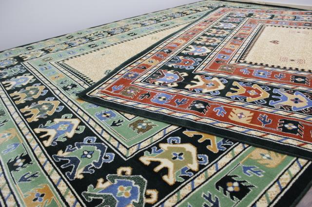 ≪少々難あり品≫ 日本製 カーペット エスニック柄 絨毯 ウィルトン織り 激安 安い アウトレット 【品名 パキラ&ゾロ】 約6畳 255×340cm