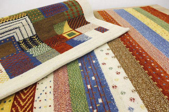 激安 3畳 ギャッベ 絨毯 インド製 ウール緞通 ギャベ ラグ マット カーペット 厚手 【品名 ギャベ緞通 Sグレード】 約3畳 約170×240cm