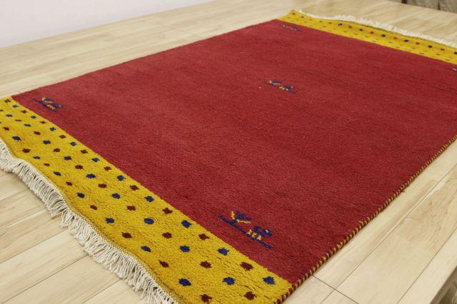 店長からの大サービス!ギャッベ絨毯  インド製 ウール手織り緞通  ラグ カーペット 【品名 お値打ちインド緞通】 約1.5畳 約120×180cm