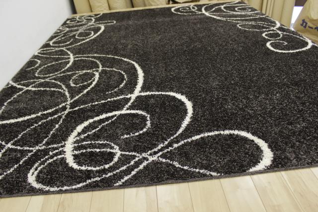 シャギーラグ 140×200cm 日本製 絨毯 カーペット モダンシリーズ 抗菌 防臭 【品名 スワープ】