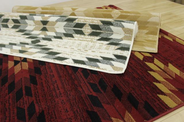 早い者勝ち!ベルギー製ウィルトン織デザイン 大判マット 【シラズ4】 140×200cm