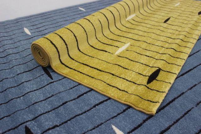 半額以上の安さ!北欧ラグ 塩系 モダン ベルギー製 ウィルトン織り 3帖 カーペット 絨毯 【品名 廃盤 カフス】 約3畳 200×250cm