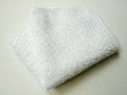 パイル地ミニハンカチ(白)四つ折り