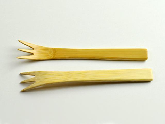 デザートフォークカート1、甲斐のぶお工房のカトラリー、竹製品、キッチン雑貨、日本製、職人手作り