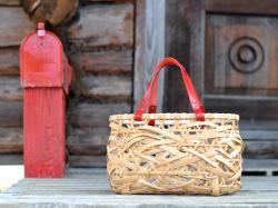 やたら編み 竹かごバッグ かごバッグ レディースファッション ハンドバッグ