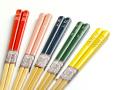 名入れ箸色彩 子ども箸 5色、赤、ピンク、黄色、緑、紺