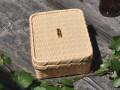 サンドかご、白竹ござ目編み、サンドイッチかごカート