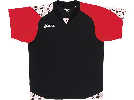 W'SゲームシャツHSブラック×レッド