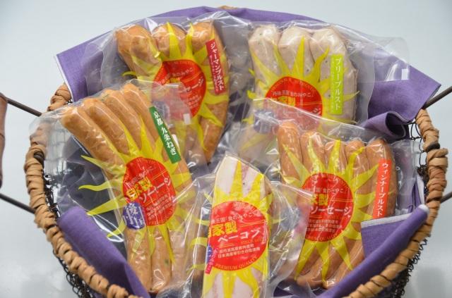 京都のブランド豚肉使用 自家製ソーセージ.ベーコン【5袋セット】【贈答用】【道の駅丹後王国「食のみやこ」自家製】