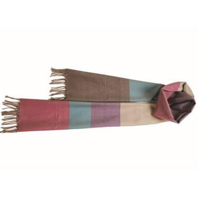 【送料無料】結城紬のショール 艶・色・温度を楽しむショール