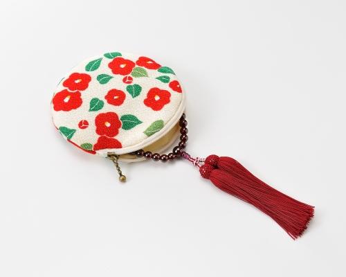 念珠袋 くろちく花筐(丸型)