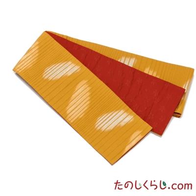 桐生織 お手ごろ半幅帯 丸かすみ 日本製