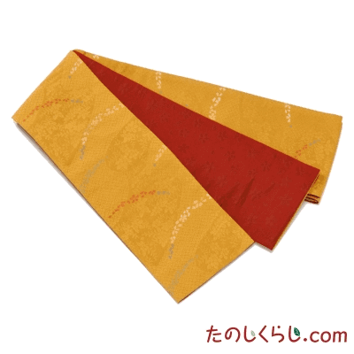 桐生織 お手ごろ半幅帯 つゆ芝 日本製