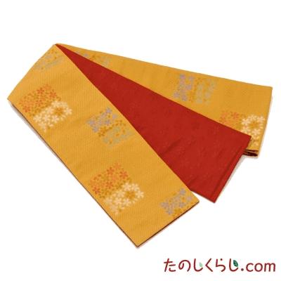 桐生織 お手ごろ半幅帯 市松桜 日本製