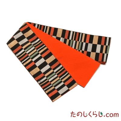 【送料無料】桐生織 半幅帯 金彩 日本製