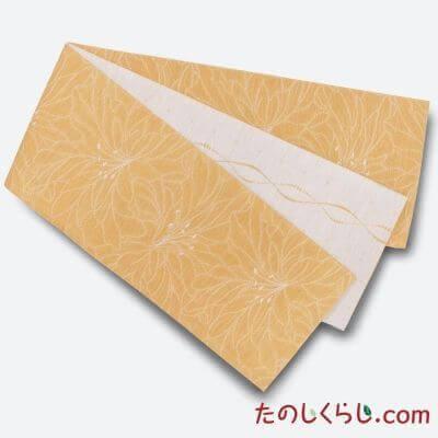 【送料無料】桐生織 リバーシブルゆかた帯 百合 日本製