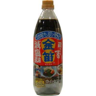 金笛 減塩醤油 1L 蔵づくり一番 塩分 50% カット しょうゆ