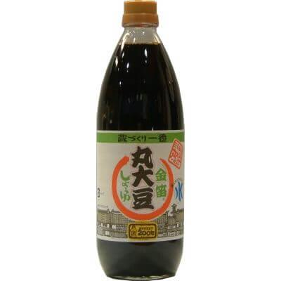 金笛 丸大豆しょうゆ 1L 蔵づくり一番 有機丸大豆使用 醤油