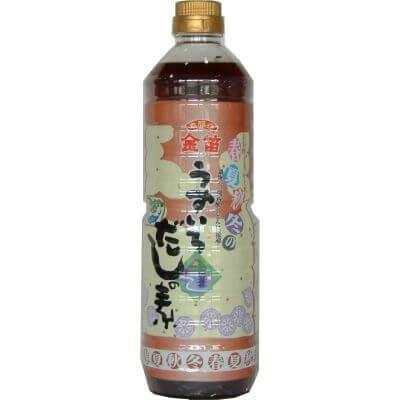 金笛 春夏秋冬 うすいろ だしの素 1L 本醸造うすくち醤油をベースにした 京風 だし