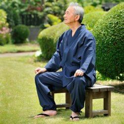 【送料無料】綿麻楊柳作務衣 男性用 日本製