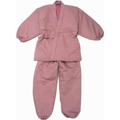 【送料無料】綿入りキルトさむえ 綾織 ピンク 女性用 日本製