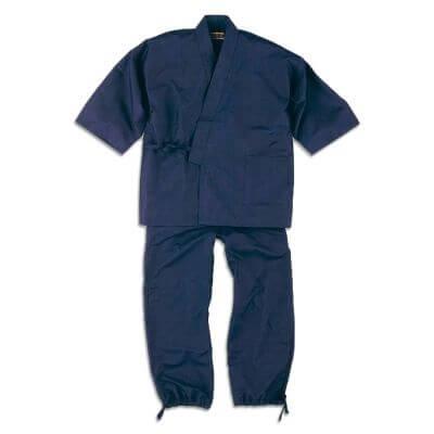 【送料無料】正絹紬作務衣 男性用 日本製