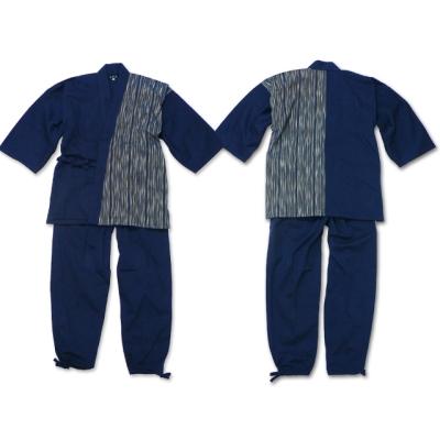 【送料無料】たて絣デザイン作務衣 男性用 日本製