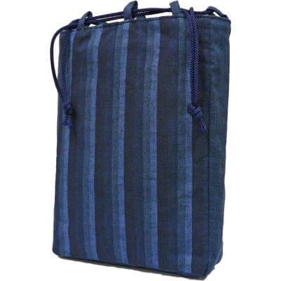 唐棧縞信玄袋 日本製