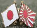 ピンバッチ:日の丸&自衛艦旗(日章旗)