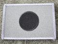 ワッペン:日の丸(灰・黒:80×55)ODベルクロ付