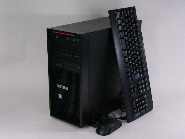 【再生品】ThinkStation P310 Tower /Win 10 Pro /Core i7-6700 /256GB+3TB 16GB BD 無線LAN サウンドカード