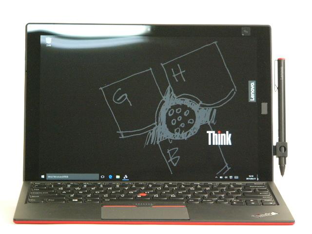 【再生品】ThinkPad X1 Tablet USキー(赤) /Win 10 Pro /Core m5-6Y54 /128GB 8GB LTE ペン