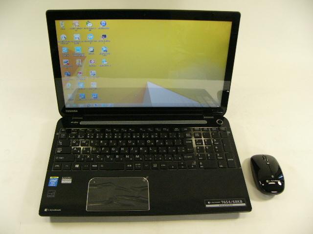 【再生品】東芝 T654/68KB /Win 8.1 /Core i7-4700MQ /1TB 8GB BD BTマウス タッチパネル 黒