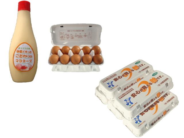 タズミの卵・マヨネーズセット(Lサイズ10個入り×5パック+こだわりのマヨネーズ1本)