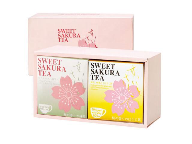 【ギフトセット】スイートサクラティー 2個入(緑茶、ほうじ茶 各1個) 品番14096