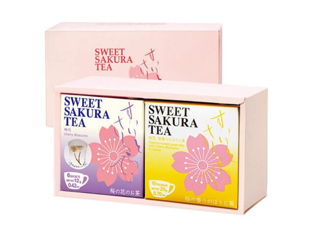 【ギフトセット】スイートサクラティー 2個入(桜花、ほうじ茶 各1個) 品番14097