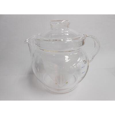 茶こし付ガラス製ティーポット GV3 クリア 品番6000