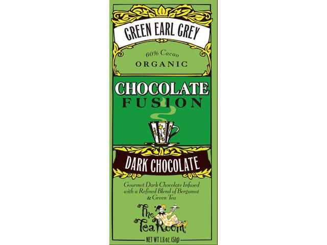 ティールーム・オーガニックチョコレート/グリーンアールグレイ ダークチョコレート