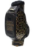 Caddie Bag Dog Pattern Gold