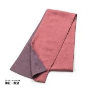 正絹綸子の襟巻 薄紅・紫鼠
