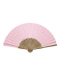【男女兼用】 彩り和紙扇子 唐木中彫 金小石<ピンク>