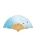 【女性用】 扇子 白竹中彫 金魚