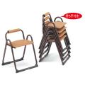 アルミ製 本堂用 椅子持ち手付き型・背もたれ付き・大寸