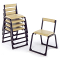 アルミ製 本堂用 椅子 背もたれ付き