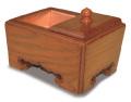 本欅 角香炉 5寸タイプ