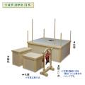 木製 平成型 護摩壇 セット 白木 4尺タイプ