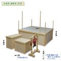 木製 平成型 護摩壇 セット 白木 4.5尺タイプ