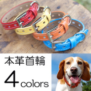 犬 首輪 OT-M1 革製 犬の首輪 小型犬首輪・中型犬首輪