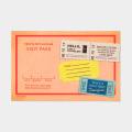 TF ポストカード ビジットパス柄 (07100102)